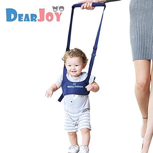 DearJoy Baby Safety Harness Belt Walking Assistant, Adjustable Shoulder & Chest Support Walker (blue)