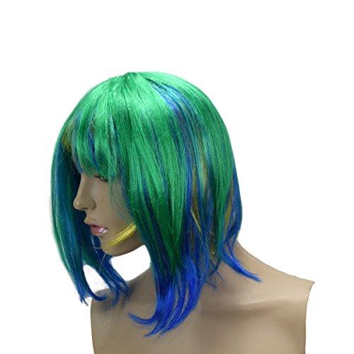 ücke Kurzhaar Bob Kopfbedeckung WM EM Fan Party Fasching Karneval Farbe Brasilien ()