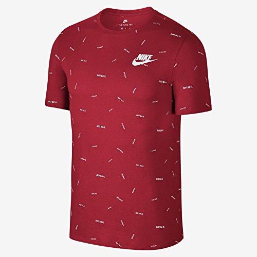 Nike 891878, T-shirt pour homme blanc/noir