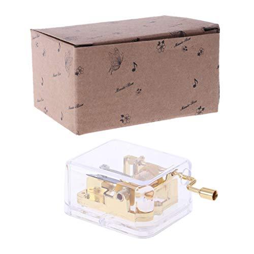 Fogun Griff Kurbel Spieluhren Bewegung für DIY Spieluhr mit 22 Melodien Wahl Silber Farbe (Hochzeitsmarsch) -
