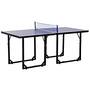 HOMCOM 183cm Mini Tennis Table Folding Portable Ping Pong Table with Net for Indoor Outdoor Game Review 2018