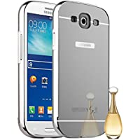 Funda Espejo Aluminio Metal Carcasa para Samsung Galaxy S3 SIII i9300/S3 Neo i9301 Color Plata