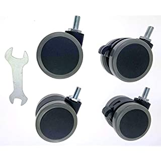 Allcam Set of 4 Wheels with M8 screw thread, 2 with brakes