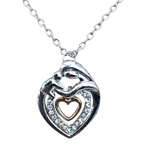 mother-and-baby-heart-necklace-silver-and-gold-plated-mother-and-son-mother-and-daughter-gift-box