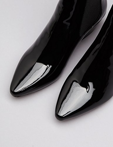 FIND Damen  Western-Stiefel in Lackleder-Optik Schwarz (Black)