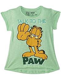 Garfield Girls' Plain Regular Fit T-Shirt