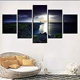 cmdyz (Sin Marco) Lienzo HD Pintura Impresa 5 Unidades Cape Dash Okinawa Paisaje Natural Imágenes Costa Modular Faro Cartel De La Pared Arte Decoración