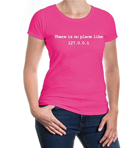 buXsbaum® Girlie T-Shirt There is no place like home Fuchsia-White