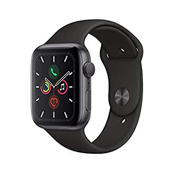 Apple Watch Series 5 (GPS, 44mm) - Space Gray Aluminium Case with Black Sport Band
