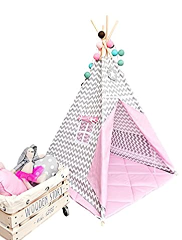 Teepee tent with floor mat and pillows - Sweet Moment