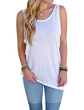 Camisetas sin Manga Mujer Anchas Camiseta de Tirantes Mujer Camiseta Espalda Descubierta Camisas sin Manga para...