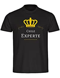 T-Shirt cuello redondo camiseta de manga corta de Chile experto negro infantiles 128 A