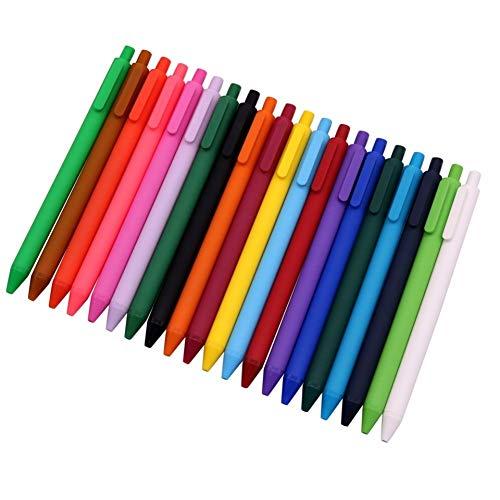 DYHDYZB Kugelschreiber 20 Stücke 20 Farben Mischmalerei Kugelschreiber Spitze 0,5mmGroße Kapazität Tinte Matte Weich Und Kunststoff Facile Schriftsteller Geschenk Pens Packs, 20 STÜCKE
