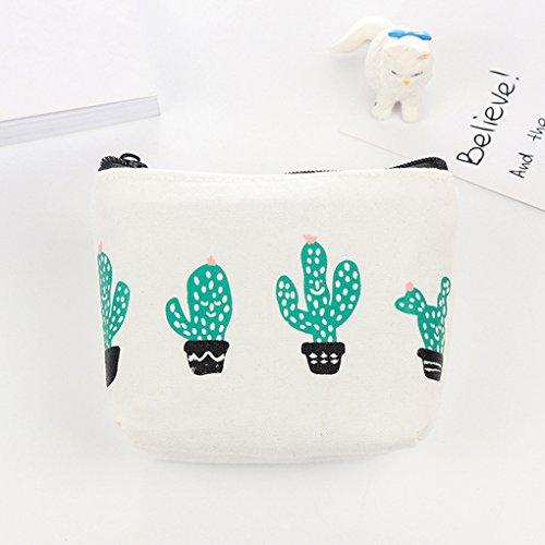 LUFA Sacchetto delle cuffie del sacchetto del sacchetto del sacchetto del sacchetto del sacchetto della moneta del cactus del fumetto sveglio del fumetto delle donne 1 cactus