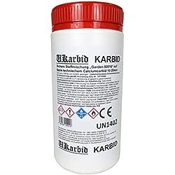 Ukarbid 5,0 Kg Karbid als Granulat mit 97% Feste Steine, auf Basis europäischen technischem Calciumcabid mit 10-20 mm