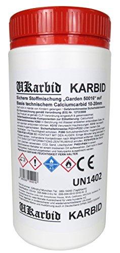 Ukarbid 4,0 Kg Karbid als Granulat mit 97{057b94a8e2284bbd3d7a7eb2e2d55756529a8694c4eb56908e974c45b97b378d} Feste Steine, auf Basis europäischen technischem Calciumcabid mit 10-20 mm