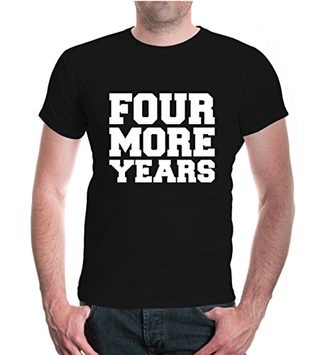 buXsbaum® T-Shirt FOUR MORE YEARS Black-White