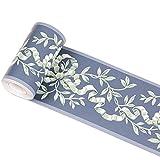 yenhome Floral Wasserdicht PVC Selbstklebende Tapete Bordüre Abziehen und Aufkleben Scroll Wand Bordüre Home Decor Wand Aufkleber 10cm X 32,8Füße