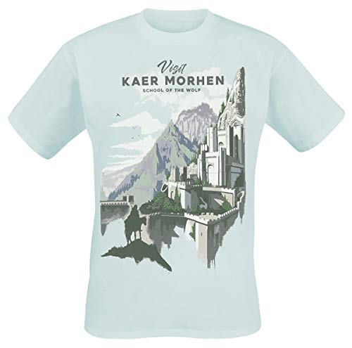 The Witcher Visit Kaer Morhen Camiseta Azul Claro XXL