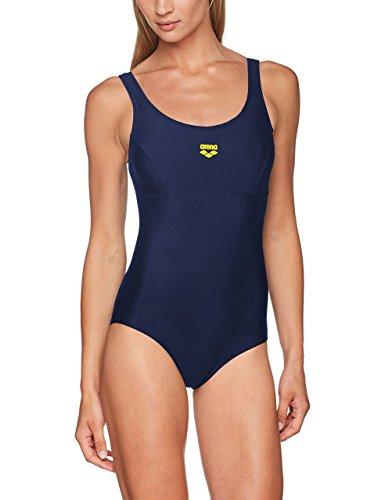 Arena Melby Badeanzug für Damen, Blau (Marineblau / gelb sta), 48