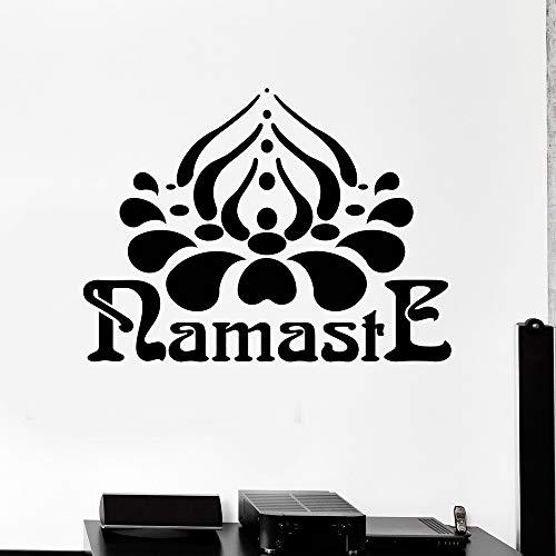 Tatuajes pared Namaste Hinduismo Yoga Hindú India