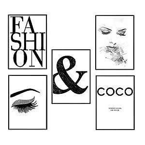 4Good Epictures Premium Poster Fashion Bilder Set Wohnzimmer/Wandbild Schlafzimmer deko Coco C. / pefekte Wandbilder ohne Rahmen (Chan. Fashion, A4)