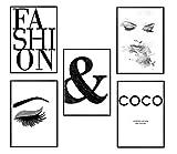 4Good Epictures Lot de Tableaux muraux de qualité supérieure pour Salon, décoration Murale, Chambre à Coucher, déco, Coco, Chanel, Dior, Petit déjeuner au Tiffany