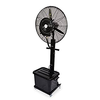 Industrial Oscillating and Tilt Stand Fan with Water Nebulizer, Diameter 65 cm