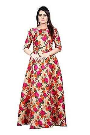 Clothfab Women's Cotton a line Salwar Suit Set (1002-1_Multi_Free Size)