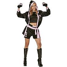 WIDMANN 73962 - adulto boxeador traje, Top, corto, abrigo con capucha y guantes