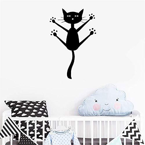 stickers muraux sticker mural Chat De Mode Chat Décor Décor TV Mur Chambre D'enfant