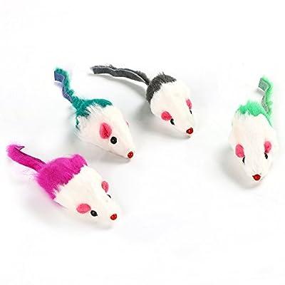 DIGIFLEX 4 Rattling Catnip Mice Cat Toys for Pets