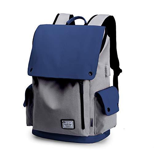 Wind Took zaino portatile impermeabile 15.6 pollice zaino laptop zaino unisex zaino con usb multiuso backpack laptop per università lavoro viaggio blu