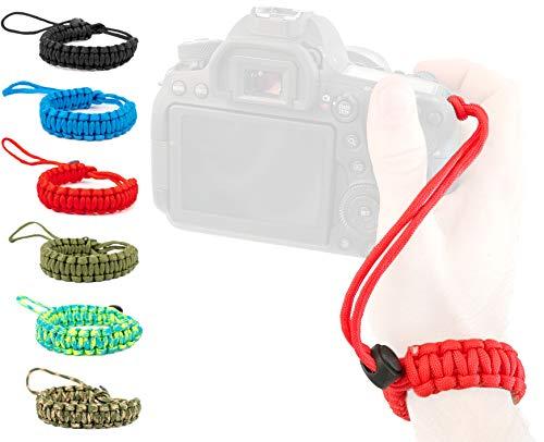 Lens-Aid Handschlaufe für Kamera: Paracord Kordel Wrist-Band Kameragurt zum Tragen am Handgelenk DSLR Tragegurt -