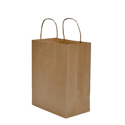 Halulu Reusable Kraft Paper Bags, Set of 25, 5.25-Inch x 3.75-Inch x 8-Inch, Brown by Halulu