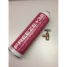 REPUESTOELECTRO-Gas ORGANICO Freeze+32,SUSTITUTO R410A R32 + Llave Grifo