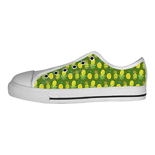 (Dalliy Ananas Cartoon Women's Canvas shoes Schuhe Lace-up High-top Footwear Sneakers)