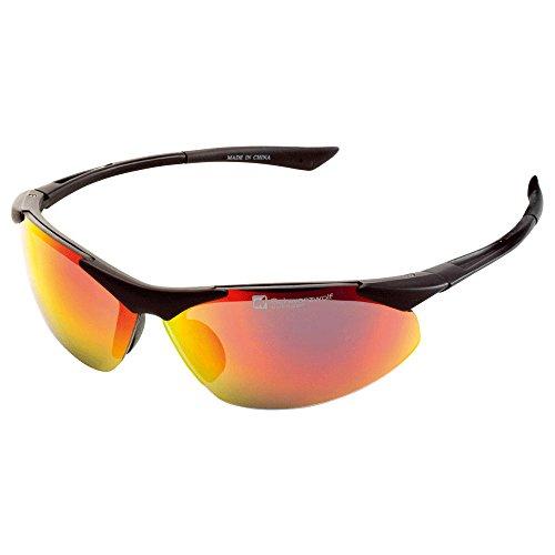 Sonnen-Brille Sport-Brille UV 400 Rad-Sport-Brille Outdoor-Brille Gold Sonnenbrille