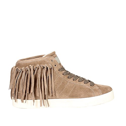 D.A.T.E. Hill HIGH-31I Sneakers Alta Donna Taupe