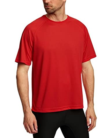 Hanes T-shirt Uni Crew Homme - Rouge - Rouge - FR: XX-Large (Taille fabricant: XX-Large)