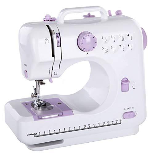 Máquina de coser Eléctrica Portátil 12 puntadas 2 velocidades Mini Máquina de coser Electrónica Pequeña herramienta de costura doméstica con Pie Pedal, LED Luz Uso de Viaje y Casa
