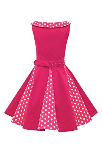 r 'Alexia' Vintage Polka-Dots Kleid im 50er-J-Stil (Rosa, 3-4 J / 98-104) ()