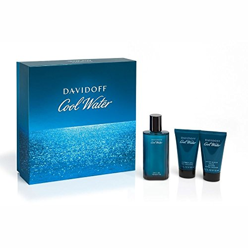 Davidoff Cool Water Giftset After Shave Spray 75 ml plus Shower Gel 50 ml plus Balm 50 ml, 1er Pack (1 x 0.175 l)