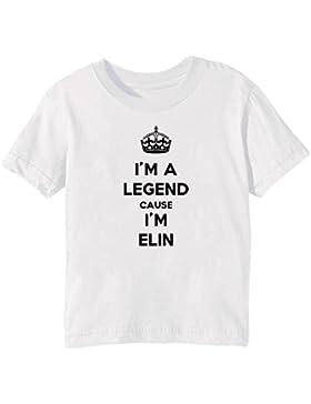 I'm A Legend Cause I'm Elin Bambini Unisex Ragazzi Ragazze T-Shirt Maglietta Bianco Maniche Corte Tutti Dimensioni...