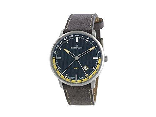 Uhr MOMO Desing Essenziale Schweizer GMT md6005ss-32mit Bewegung und Leder-Armband.