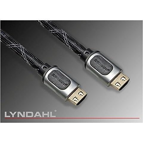 Lyndahl HDMI Kabel 2.0 / 2.0a Ultra HDTV-Verbindungskabel Full HD, 4K bei 60 Hz, 3D Übertragung + Netzwerk Funktionalität, Ethernet-Kanal, Audiorückkanal (ARC Audio Return Channel) für z.B. PlayStation4, Full HD Beamer, DVD/ BlueRay Player in 0,5m bis 15m Länge 2m