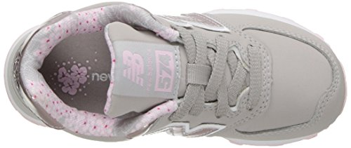 New Balance KL574, Sneakers basses fille Grey