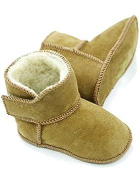 Lammfellschuhe Babyschuhe , Stiefel , Klettverschluss , Echt Fell Schuhe Krabeln, hausschuhe Baby ADB-0001 Madchen...