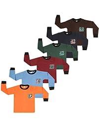 SR Kids Boys Cotton Full Slevee Tshirts (Pack of 6)