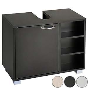 aquamarin meuble salle de bain sous lavabo vasque avec rangement 60 51 31 cm coloris au choix. Black Bedroom Furniture Sets. Home Design Ideas